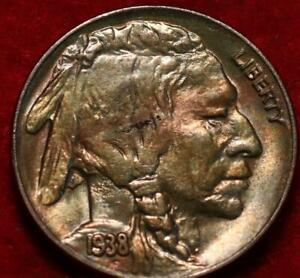 Uncirculated 1938-D Denver Mint Buffalo Nickel Toned
