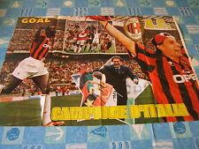 POSTER=MILAN 1995/96 cm 80x55=sul retro Cantona e Manchester United