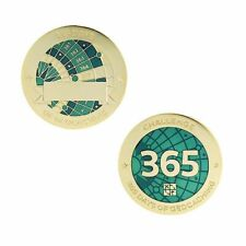 Challenges Geocoin and Tag Set - 365 Days of Geocaching Official Trackable