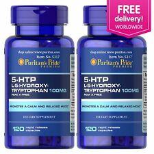 Puritan's Pride 5-HTP 100 mg (Griffonia Simplicifolia) - 120 Capsules 2 Pack