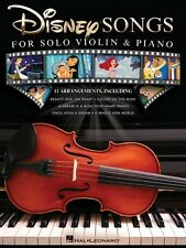 Disney Songs for Solo Violin & Piano Instrumental Solo Book New 000159561
