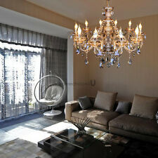 Elegant Large Crystal 10 Candle Arm Chandelier Luxury Pendant Ceiling Lamp