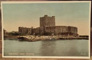 Irish Postcard CARRICKFERGUS Castle Belfast Northern Ireland Valentine Carbo