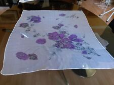 N31 Foulard mousseline Coquelicots 73x84cm muslin scarf poppys