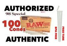 RAW Classic 98 special Size Pre-Rolled Cone W tip(100 Pack)AUTHORIZED AUTHENTIC