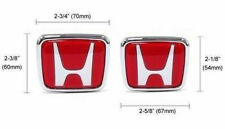 2X Red H Front Trunk Emblem Badge For Civic  Del Sol Accord Prelude Integra