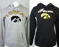 University of Iowa Hawkeyes Women's Pullover Hoodie Black Gray NCAA S M L XL XXL
