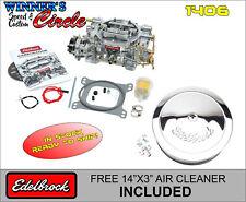 Edelbrock 1406 Carburetor Elec Choke 600 CFM Sqr Bore w/ FREE Edelbrock A/C