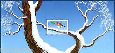 bloc feuillet souvenir N° 1 ou bloc 65 de 2003 meilleurs voeux rouge gorge