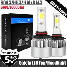 HB3 9005 H10 LED Headlight Car Bulbs Kit 60W 18000LM Xenon 6000K White Foglight