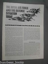 1977 article on Royal Air Force, planes, plans, etc, from UK RAF magazine