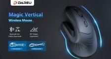 DAREU Magic Bluetooth 4.0+2.4Ghz Vertical Wireless Optical Mouse Ergonomic skin