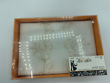 NEW Studio His & Hers Burlap & Lace Guest Registry Book Wedding Party Reception