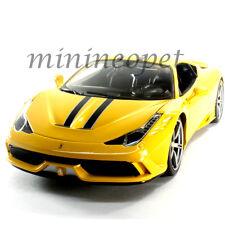BBURAGO 18-16002 FERRARI 458 SPECIALE 1/18 DIECAST CAR YELLOW