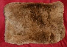 "HANDMADE BROWN SHEEPSKIN ANIMAL FUR ACCENT PILLOW COVER 12"" X 18"""