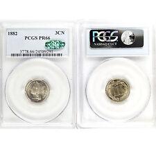 1882 Liberty Head Three Cent Nickels PCGS PR66 CAC