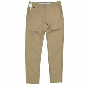 Lacoste SPORT Men's Breathable Stretch Golf Chino Pants Khaki Ultra-Dry