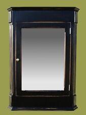 Ludwig Medicine Cabinet / Antique Black Finish / Surface Mount / Solid Wood