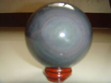 TOP!!! Natural obsidian jadeite-bearing crystal ball 337 g