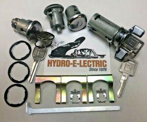 NEW 1969-1978 Skylark/GS & Cutlass/4-4-2 Ignition, Door & Trunk Lock Set-GM Keys