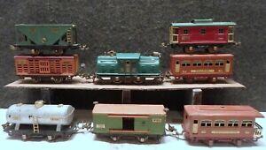 LIONEL Prewar 252 engine, CARS NUMBERS 529, 530, 803, 804, 805, 806, 807 O GAUGE