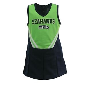 Seattle Seahawks NFL Infant Toddler Cheerleader Combo Set with Bottoms New Tag