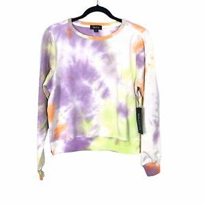 Wildfox Womens Sherbet Tie Dye Long Sleeve Pullover Lounge Sweatshirt Size Small