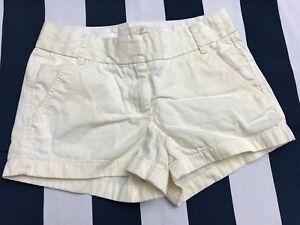 "☕J.CREW Women's 3"" Broken-in Chino Shorts 35080 Size 0 White/Biege 100% Cotton☕"