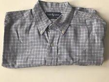 Large Ralph Lauren Blake Button Down Dress  Long Sleeve Plaid Shirt