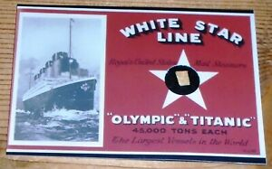 RMS Titanic 100 Years Commemorative Rare Artifact Wreck Recovery Wood Chase Card