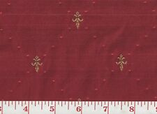Overstock Pricing! Roth & Tompkins Red Upholstery Fabric Petite Fleur de Lys