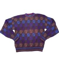 VTG Cable Knit Crew Neck Colours by Alexander Julian Sweater Size Large USA MADE