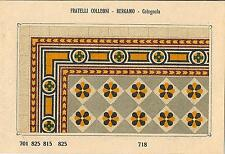Stampa antica PAVIMENTO A MOSAICO Piastrelle Mattonelle C 718 1910 Antique print
