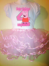 Peppa Pig Dress Birthday 2pc tutuset 1T,2T,3,4,5,6,7,8,9