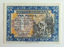 Billete España 1 Peseta Hernan Cortés 1940 Serie F, PLANCHA Sin Circular