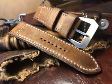 Handmade 26mm leather watch strap. Ammo. Pam Tubes