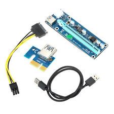 P90 USB 3.0 PCI-E Express 1x zu 16x Extender Riser Kabel Karte Graphik+SATA Kabe