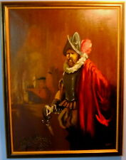 Fine Ca. 1950 MCM Conquistador by Carlo of Hollywood (oil on canvas)