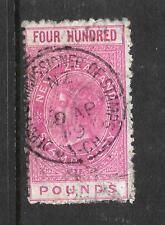 NEW ZEALAND 1882 400 pound   QV FISCAL  P11