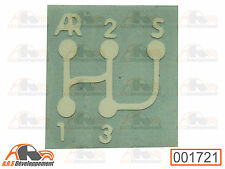 1396 malle de Citroen 2CV6 CLUB STICKER pour coffre MONOGRAMME NEUF