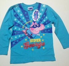 "Peppa Pig's  George Pig "" Super George "" Long Sleeve T Shirt Size 6 BNWT"