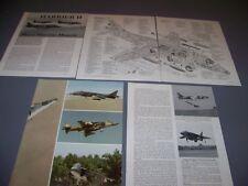 VINTAGE..AV-8B HARRIER..CUTAWAY/SPECS/DETAILS..RARE! (152F)