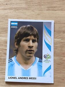 Panini World Cup Germany 2006 Lionel MESSI - Rare Rookie Sticker No. 185