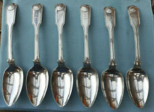 Set of 6 CHINESE EXPORT STERLING  SILVER Table Spoons  CUTSHING CANTON Victorian