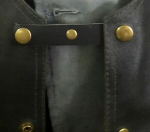 leather vest extenders with bronze tone studs set of 4 #53