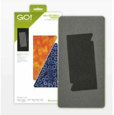 """AccuQuilt GO! 55411 Half Rectangle Triangle-3"""" x 6"""" Finished Rectangle Die"""