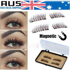 2 Pairs Magnetic Eyelashes 3D Handmade Mink Reusable False Magnet Eye Lashes AU
