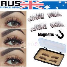 2 Pairs Magnetic Eyelashes 3d Handmade Mink Reusable False Magnet Eye Lashes AU