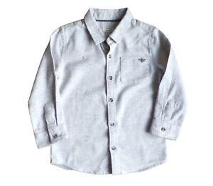 River Island Boys Grey Twill Shirt 18-24 Months