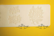 Large Lace Rose Mat Mould sugar craft Silicone Cake cup cake decorating Edge